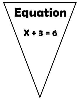 Algebra Vocabulary Flags