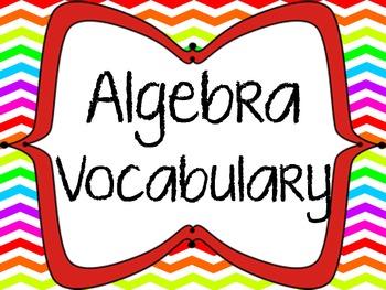 Algebra Vocabulary Posters