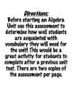 Algebra Vocabulary Pre-Test