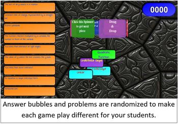Algebra Vocabulary SMART Board / Interactive Whiteboard Game