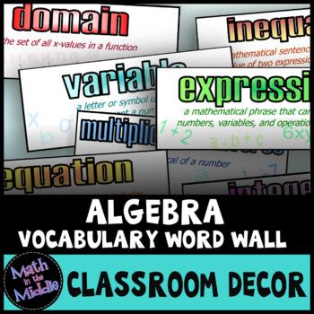 Algebra Word Wall - Math Posters