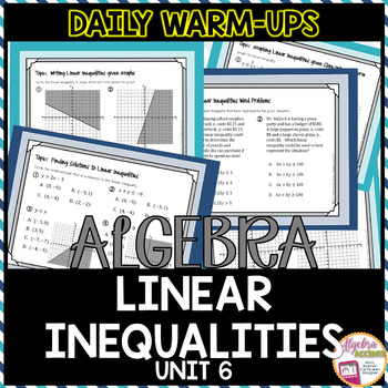 Algebra Warm-Ups: Linear Inequalities