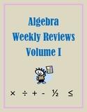 Algebra Weekly Review Volume 1