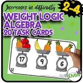 Algebra Weight Logic Math Task Cards