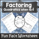 Factoring Quadratics {Factoring Polynomials Activity} {Factoring Trinomials}