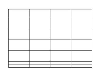 Algebra Word Grid