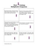 Algebra:  Word Problems Algebraic Thinking 3rd - 5th Grade CCSS