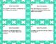 Algebra Word Problems-Grades 6-8 -Task Cards