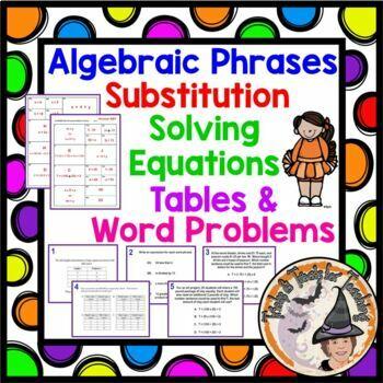 Algebra Word Problems Math on Desks Algebraic Applications Smartboard Activity