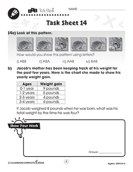 Algebra: Word Problems Vol. 5 Gr. PK-2