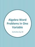 Algebra Word Problems in One Variable Worksheets (Distance
