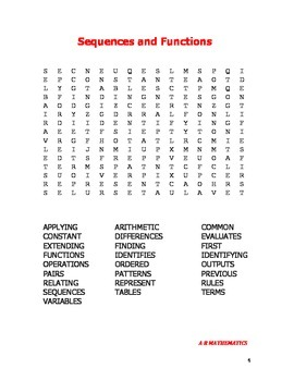 Algebra Word Search Book 2