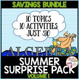 Algebra Summer Surprise Pack Volume 1