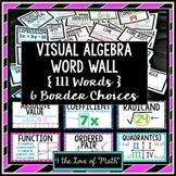 Visual Algebra Word Wall (111 Words!)