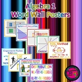 Algebra Word Wall Poster Set