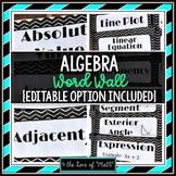 Algebra Word Wall Strips: (96 in all!)