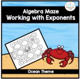 Algebra Working with Exponents Maze