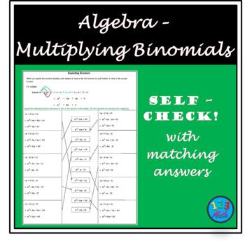Algebra Activity Worksheet - Expanding Brackets
