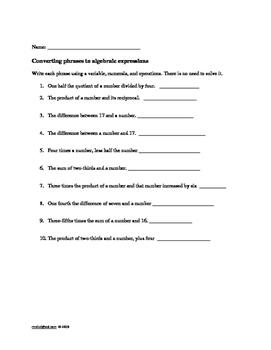 Algebra Worksheets: Grades 4, 5, 6 Morning Work, Assessment, Remediation