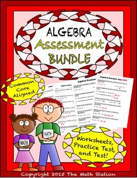 Algebra Worksheets & Test - 6th Grade