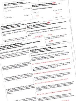 Algebra Worksheets & Test - 7th Grade