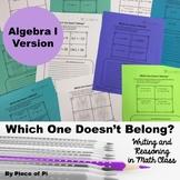 Algebra 1 Writing in Math Activities Journaling