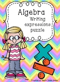Algebra Writing Expressions Puzzle