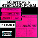 Algebra: Writing Linear Equations in Standard Form Foldable Notes