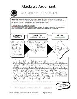 Algebra Writing for deeper understanding
