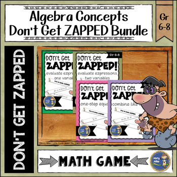 Algebra ZAP Math Game Bundle