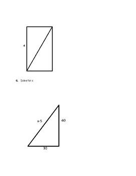 Algebra and Geometry Review worksheet