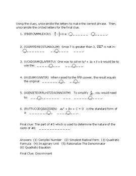 Algebra Puzzle