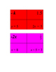 Algebra grouping cards