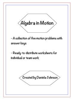 Algebra in Motion - Word Problems