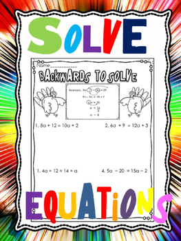 Algebra- solving equations