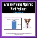 Area and Volume Algebraic Word Problems