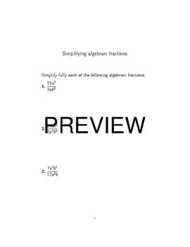 Algebra topics bundle