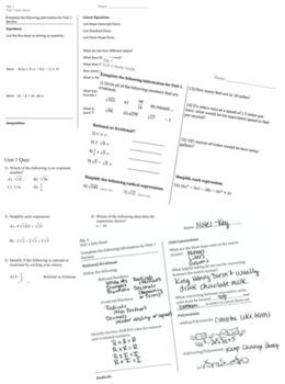 Algebra1 GA EOC - Unit 6 Review