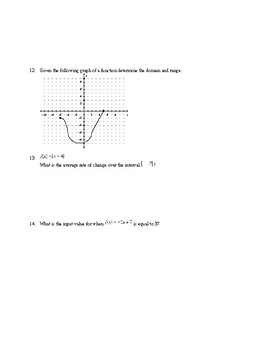 Algebra1 Unit 6 (functions) Khan Academy aligned mixed assessments