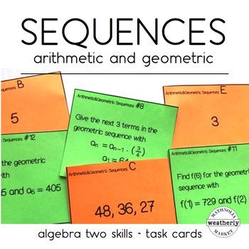 Arithmetic and Geometric Sequences algebra2