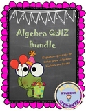 Algebra/Pre Algebra/Middle School Math Quizzes/Assessments