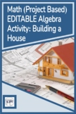 Project Based Algebra EDITABLE Distance Learning Activity: