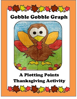 Thanksgiving Coordinates or Plotting Points Activity, Turkey