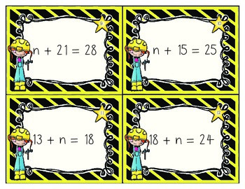 Algebraic Addition and Subtraction Equation Math Center