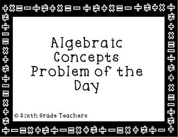 Algebraic Concepts Warm Ups