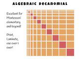 Algebraic Decanomial - Great for Montessori Upper Elementary!