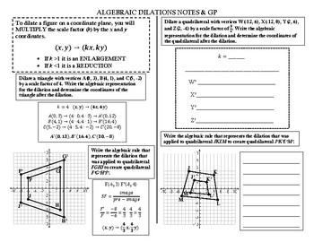 Algebraic Dilation Notes & GP