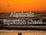 Algebraic Equation Chant!  Karaoke and Demonstration Track