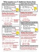 Algebraic Equation Riddle Cards (Writing Equations in Slope-Intercept Form)