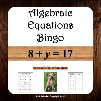 Algebraic Equations Bingo (30 pre-made boards!)